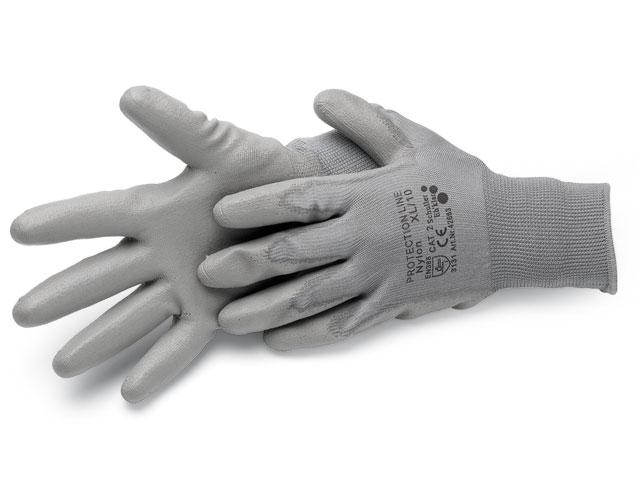 Handschuhe, Nylon grau