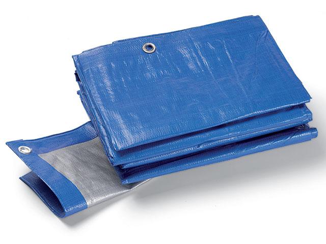 Industrie-Schutzplane 180g, blau/grau