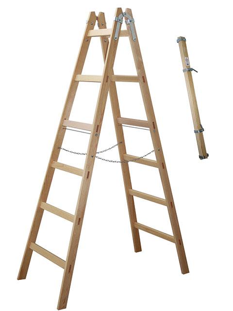Holz-Stehleiter