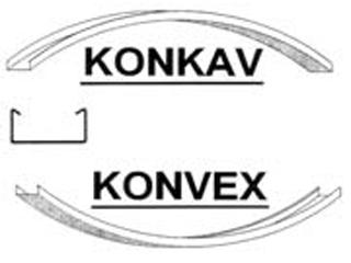 Decken-C-Profil, konvex/konkav gebogen
