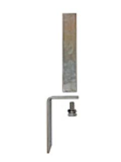 Stirnseitige Dübelplatte für UNI Säule aus Alu