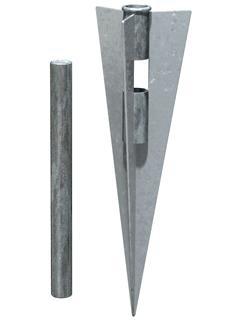 Montage bei schrägen Gelände: Bodenhülse für UNI Säule aus Alu