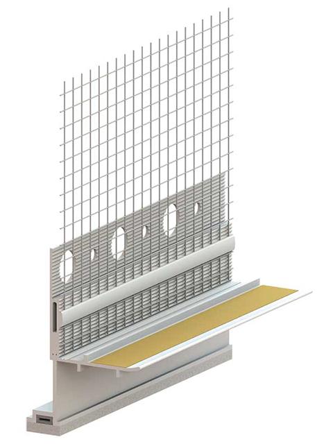 PROFI Fensteranschlussprofil 3D Aluschale Flex Small