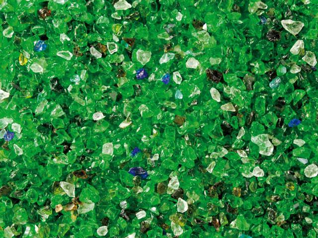 Glassplitt, Garten-Grün