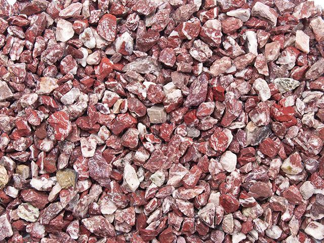 Marmorsplitt Royal- Rot