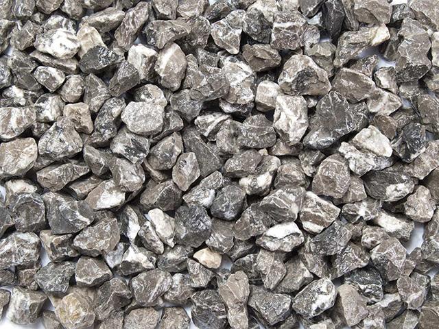 Marmorsplitt Grau-Weiß