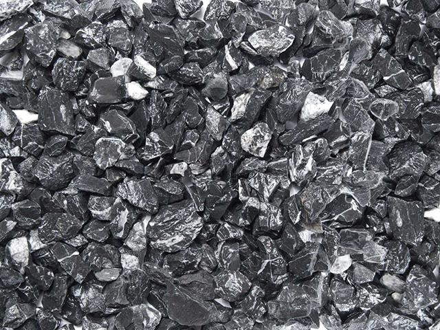 Marmorsplitt Schwarz- Weiß