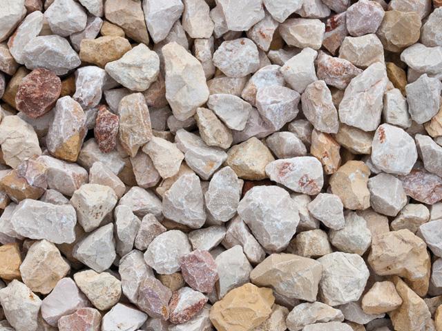 Kalksteinsplitt, Juli-Bunt