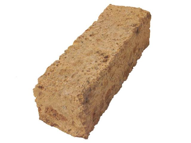 Tuffsteinblock, Braun, gesägt