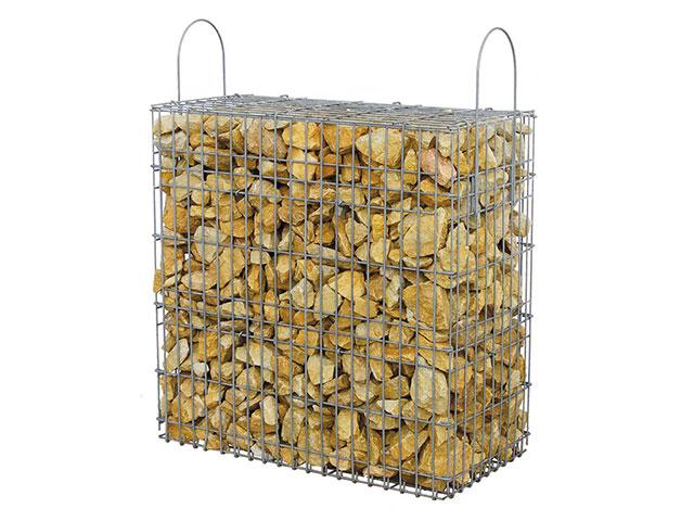 Marmorbruch-Gabione, Gold-Ocker
