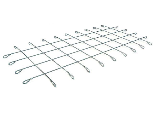 Gabionen-Matte mit Ösen, Maschenweite 10x10 cm