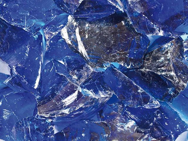 Glasbrocken Beeren-Blau