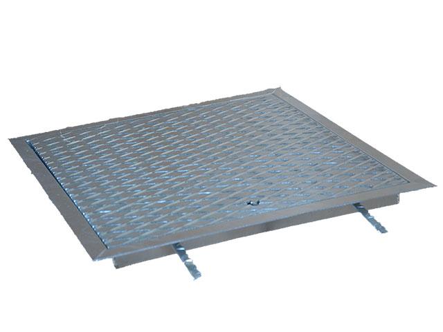 Riffelblechdeckel, begehbar- aus Stahl verzinkt