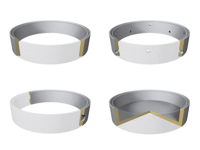 Schachtringe mit Falz Ø 1.000 mm (Heben mit Zange) C30/37 XC3