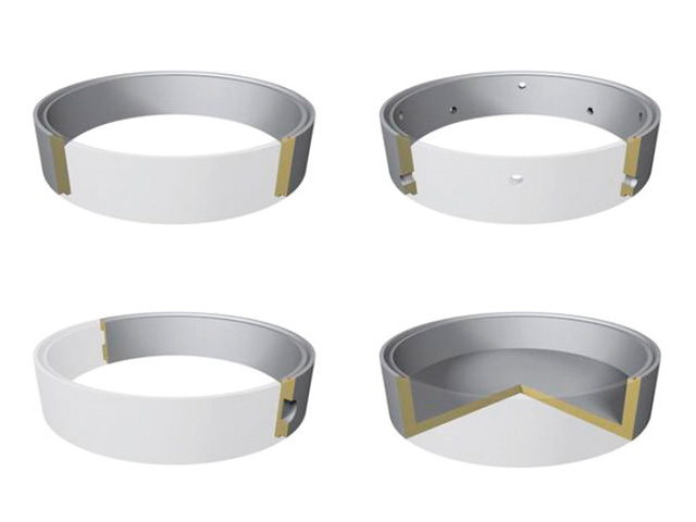Schachtringe mit Falz Ø 2.500 mm (Heben mit Gehänge) C30/37 XC3