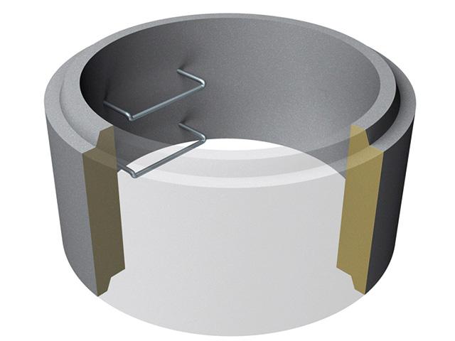 Schachtringe mit Falz Ø 3.000 mm*** (Heben mit Gehänge) C30/37 XC3