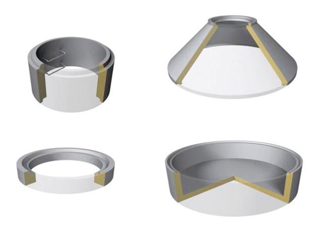 Schachtringe mit Muffe Ø 1.500 mm (Heben mit Zange) ― Muffenausbildung gemäß DIN 4034-1