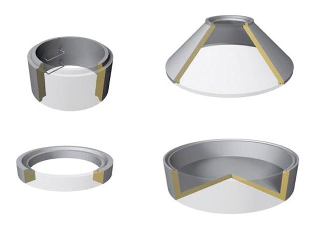 Schachtringe mit Muffe Ø 2.000 mm (Heben mit Zange) ― Muffenausbildung gemäß DIN 4034-1