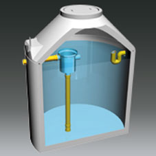 ACRG-K Regenwasserzisterne Kompaktbauweise mit Gewebefilter (Werk Sollenau)
