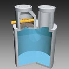 ACR Regenwasserzisterne Ringbauweise mit Kiesfilter Süd