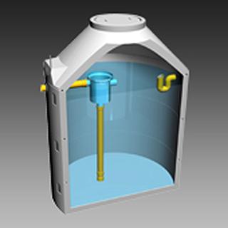 AQUA CLEAN ACRG-R Regenwasserzisterne Ringbauweise mit Gewebefilter (Werk Sollenau)