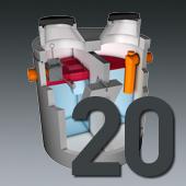 PCM Mineralölabscheider - Nenngröße 20