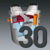 PCM Mineralölabscheider - Nenngröße 30