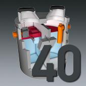 PCM Mineralölabscheider - Nenngröße 40