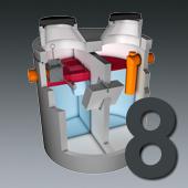 PCM Mineralölabscheider - Nenngröße 8