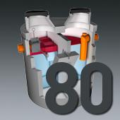 PCM Mineralölabscheider - Nenngröße 80