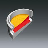 Ausprägungen für Schachtbodenteile DN1000, DN 800 u. DN600 - Ausprägung für Gefälle im Schachtgerinne
