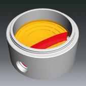 Ausprägungen für Schachtbodenteile DN1000, DN 800 u. DN600 - Ausprägung für Hauptgerinne gebogen