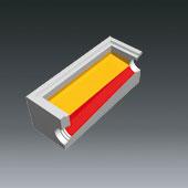 Ausprägungen für Schachtbodenteile 800x1200 - Ausprägung für Gefälle im Schachtgerinne