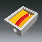 Ausprägungen für Schachtbodenteile 800x1200 - Ausprägung für Hauptgerinne gebogen