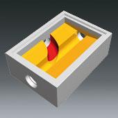 Ausprägungen für Schachtbodenteile 800x1200 - Ausprägung für seitliche Zuläufe zum Hauptgerinne gerade und gebogen