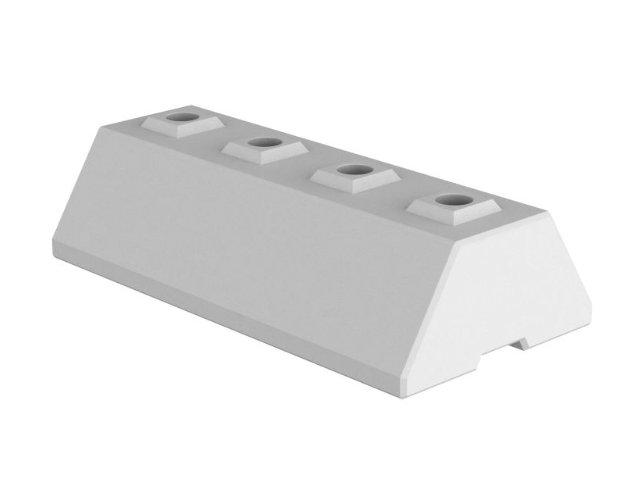 Variable Betonwand - Basisstein freistehend (base)