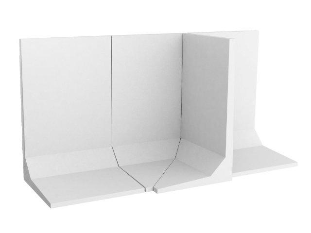 Winkelstützmauer L-förmig / frostbeständig bis 100cm Elementbreite