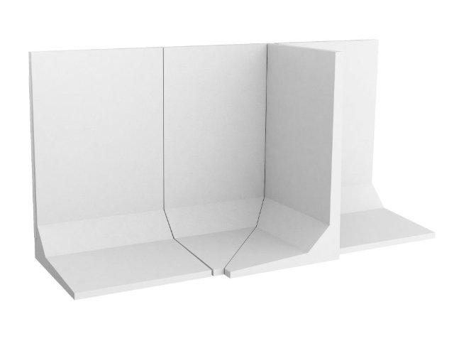 Winkelstützmauer L-förmig / frostbeständig bis 400cm Elementbreite