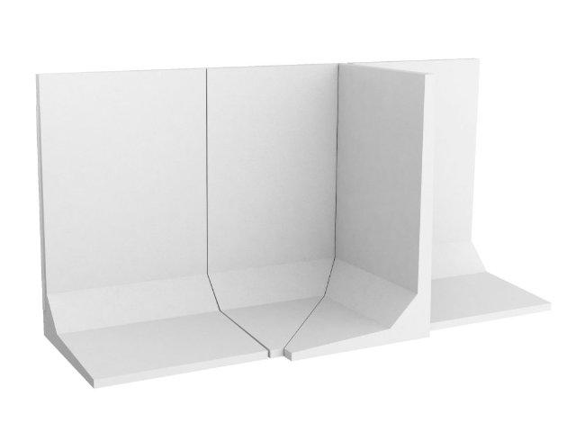 Winkelstützmauer L-förmig / frosttausalzbeständig bis 100cm Elementbreite