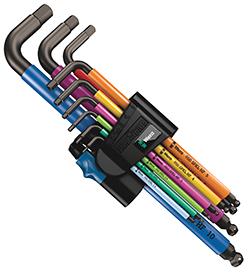 950/9 Hex-Plus Multicolour HF 1 Winkelschlüsselsatz, metrisch, BlackLaser, mit Haltefunktion, 9-teilig