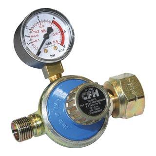 Propanregler mit Manometer 1 - 4 bar / DR 115