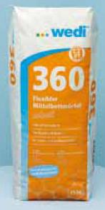 wedi 360 - Flexibler Mittelbettmörtel schnell