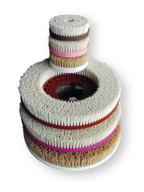 Porzellanbürsten für Weichgesteine (Bodenmaschine 380 mm)