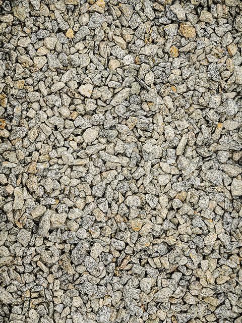 Granitsplitt, anthrazit-weiß