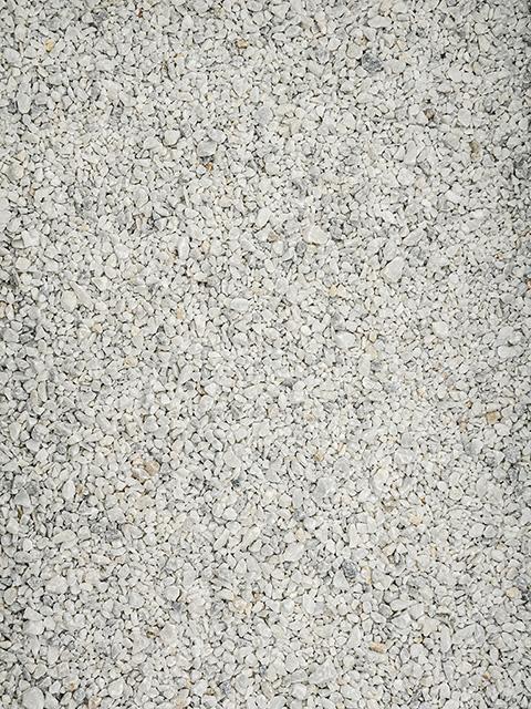 Marmorsplitt, weiß