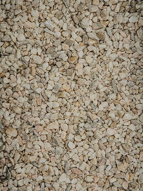 Marmorsplitt, sölker-kristall