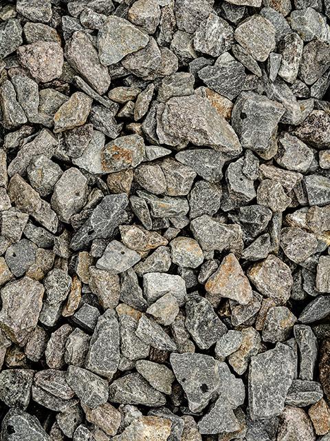 Basaltsplitt, schwarz-anthrazit