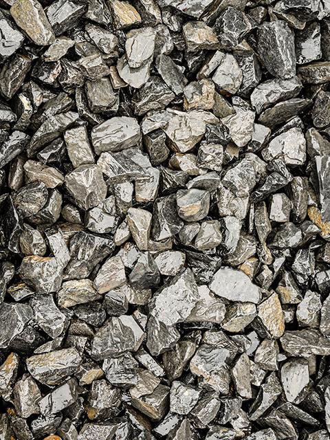 Bruchsteine, schwarz-anthrazit