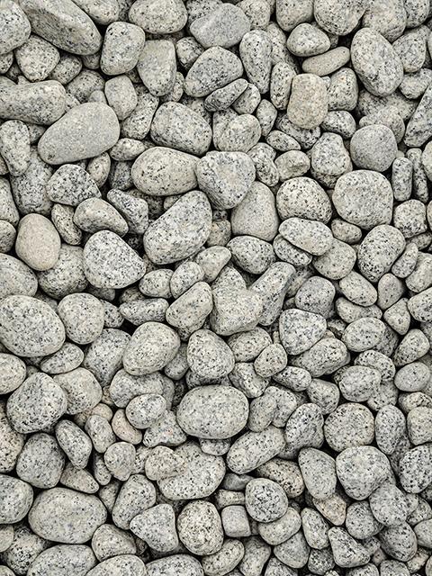 Granitkiesel, anthrazit-weiß
