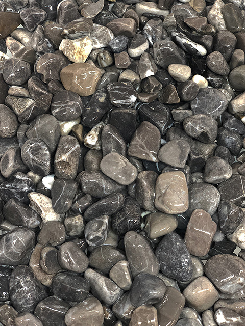 Flusskiesel, schwarz-anthrazit